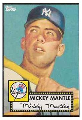 1952 Topps Mickey Mantle Why All The Fuss All Things Red Sox